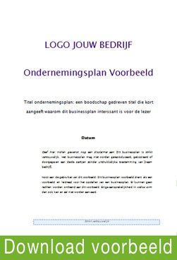 Ondernemingsplan voorbeeld gratis downloaden | Yellow Walnut